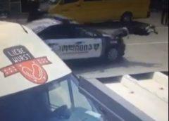 ხაშურში პატრულის მანქანა ქალს დაეჯახა (ვიდეო)